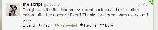 Glenn's Tweet